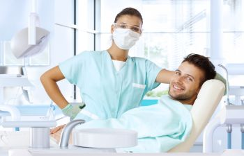 Patient With a Dentist
